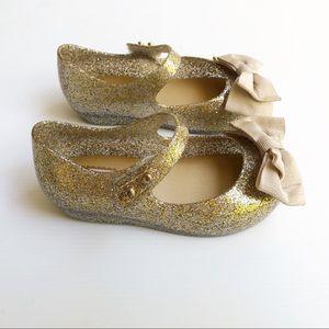 Mini Melissa Toddler Girls Gold Ultragirl Shoes